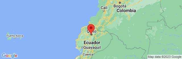 Landkaart Quito