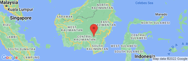 Landkaart Kalimantan