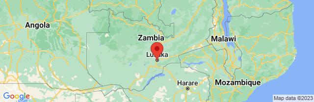 Landkaart Lusaka