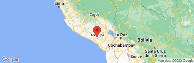 Landkaart Arequipa