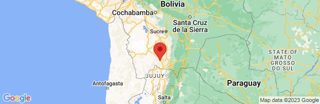 Landkaart Tupiza