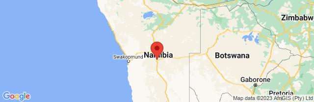 Landkaart Windhoek