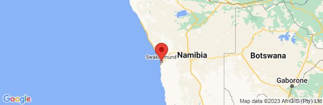Landkaart Swakopmund