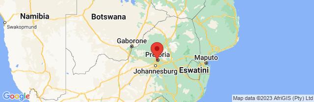 Landkaart Pretoria