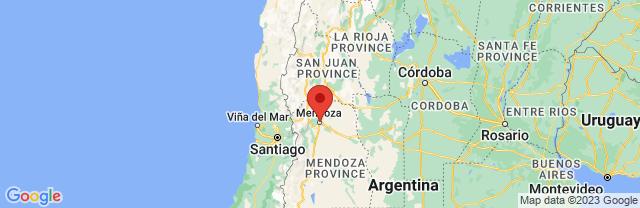 Landkaart Mendoza