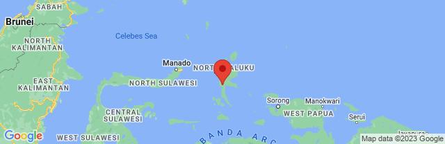 Landkaart Molukken