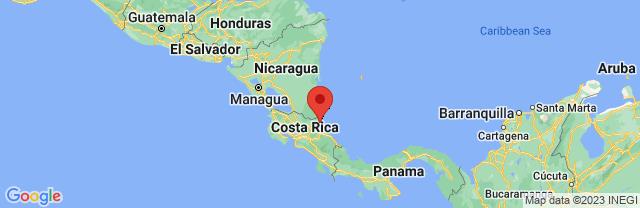 Landkaart Tortuguero