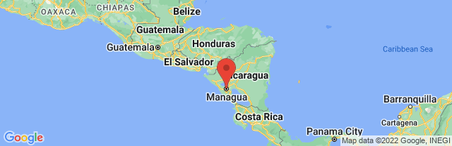 Landkaart Managua