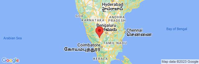 Landkaart Mysore