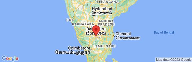 Landkaart Bangalore