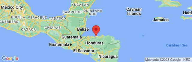 Landkaart La Ceiba