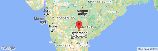Landkaart Hyderabad