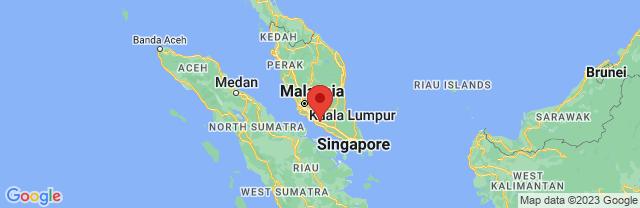 Landkaart Melaka