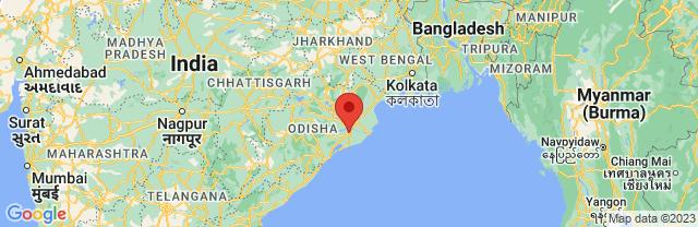 Landkaart Bhubaneshwar