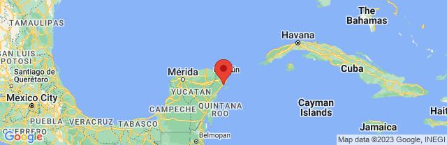 Landkaart Playa del Carmen