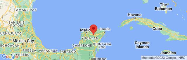 Landkaart Chichén Itzá