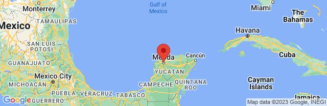 Landkaart Mérida
