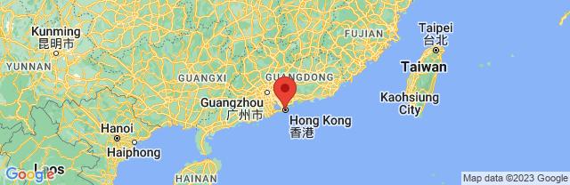 Landkaart Hongkong