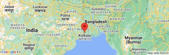 Landkaart Calcutta (Kolkata)
