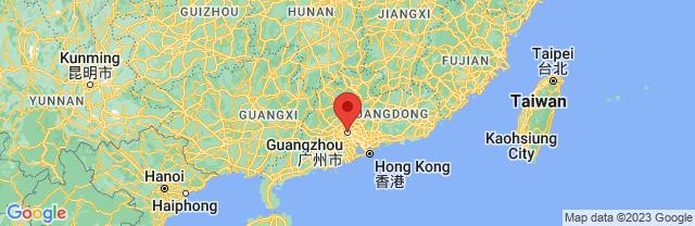 Landkaart Guangzhou