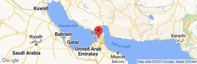 Landkaart Umm Al Qaywayn