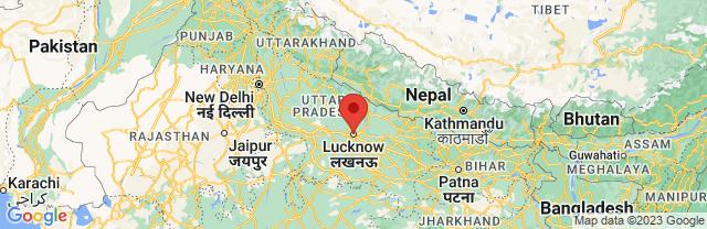 Landkaart Lucknow