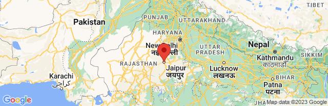Landkaart Jaipur