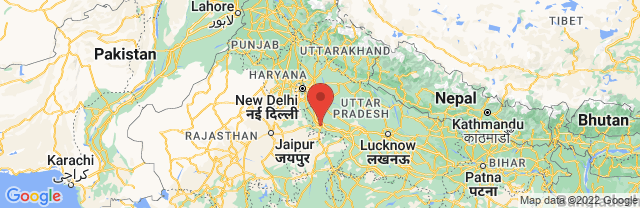Landkaart Agra