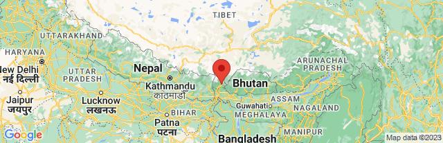 Landkaart Gangtok