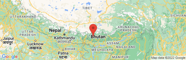 Landkaart Thimphu