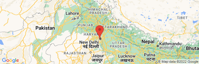 Landkaart Delhi