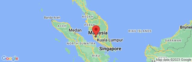 Landkaart Kuala Lumpur