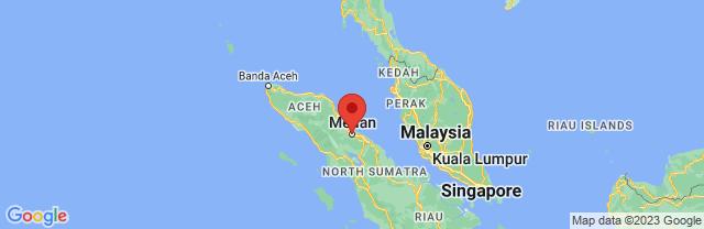 Landkaart Medan
