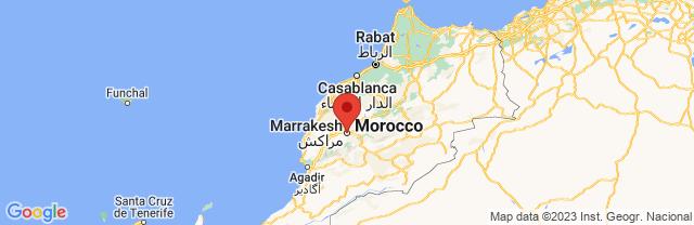 Landkaart Marrakech