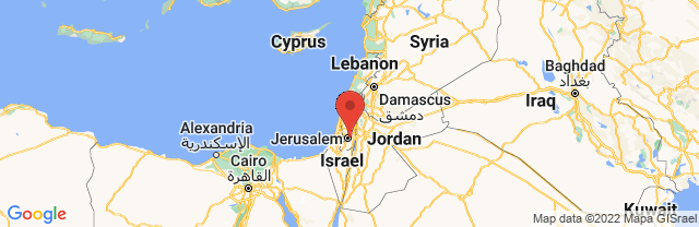 Landkaart Jeruzalem