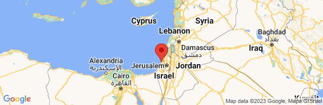 Landkaart Tel Aviv