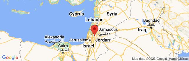 Landkaart Jerash