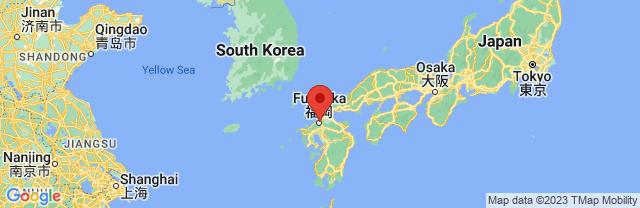 Landkaart Fukuoka