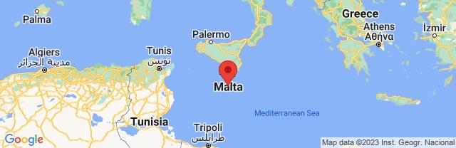 Landkaart Mdina