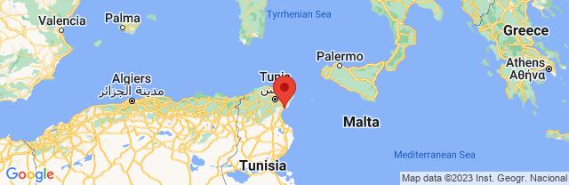 Landkaart Hammamet