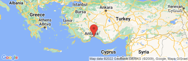 Landkaart Belek