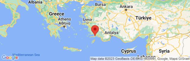 Landkaart Marmaris