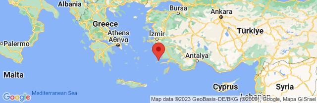 Landkaart Kos