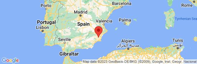 Landkaart Murcia