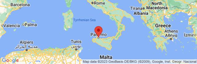Landkaart Palermo