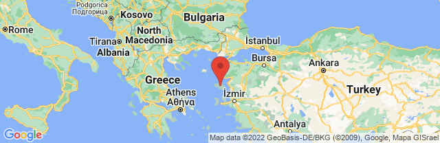 Landkaart Lesbos