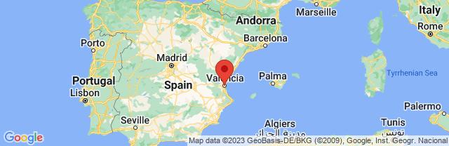 Landkaart Valencia