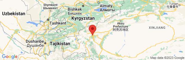 Landkaart Kashgar