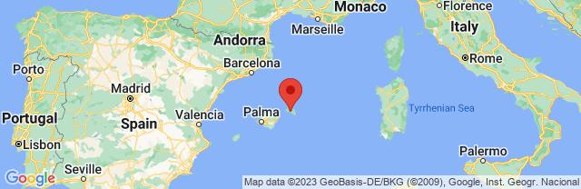 Landkaart Menorca