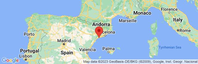 Landkaart Tarragona